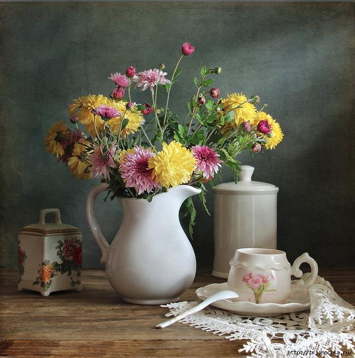 Он вернется! Чай, конфеты, улыбки цветов! Натюрморты!