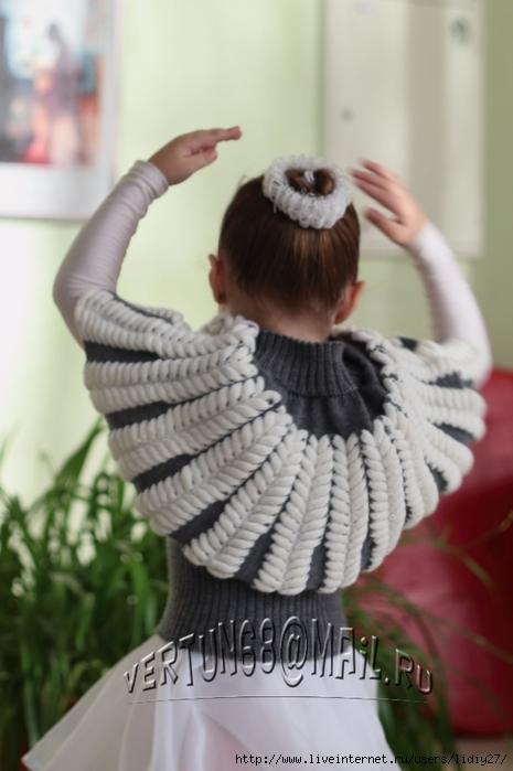 Вязание кофты азиатским колоском