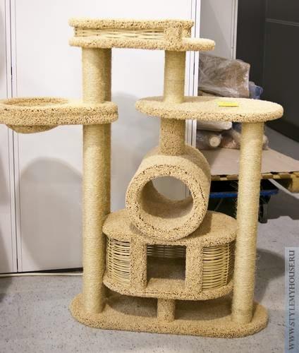 Домики для кошек своими руками фото