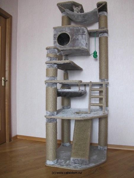 Домик для кошек своими руками фото