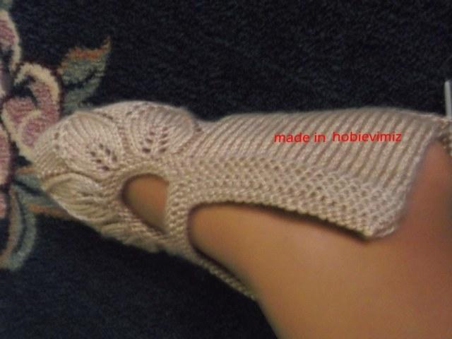 Вязание туфельки с спицами 54