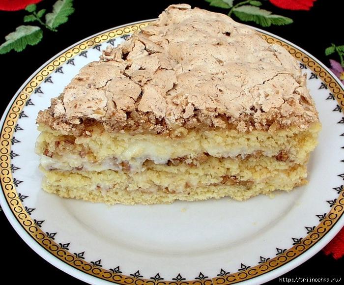 Торт с грецкими орехами и ванильным пудингом!