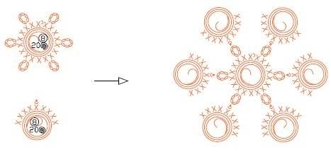 Закладки для книжки из цветочков крючком. Схемы цветов (15) (467x215, 45Kb)