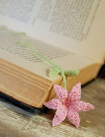 Закладки для книжки из цветочков крючком. Схемы цветов (35) (353x460, 74Kb)