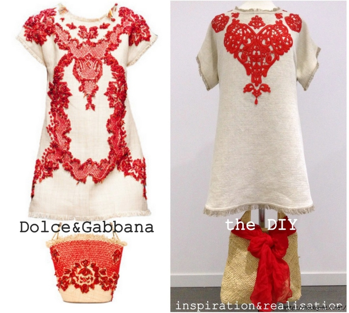 inspiration&realisation_diy_dolce_gabbana_rafia_coral_dress_summer_2013_tutorial (700x627, 294Kb)