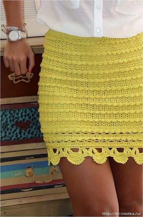 Как связать юбку карандаш схемы