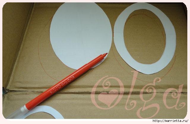 Как сделать объемную овальную рамку из картона. Мастер-класс (3) (640x416, 120Kb)