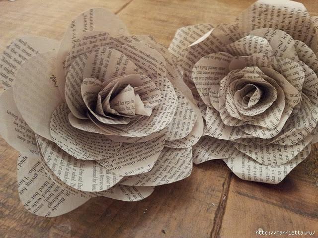Розы из книжных и печатных страниц (6) (640x480, 258Kb)