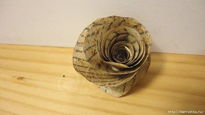 Розы из книжных и печатных страниц (16) (700x393, 212Kb)