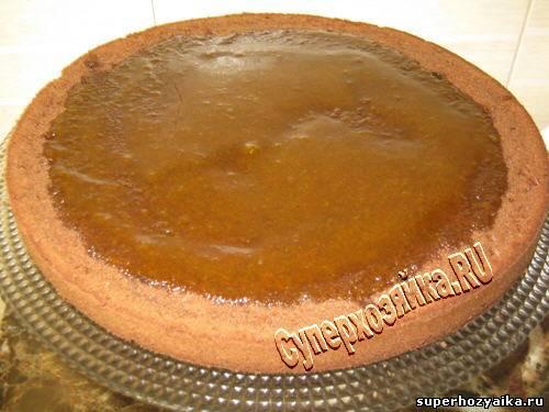 Торт захер с абрикосовым конфитюром