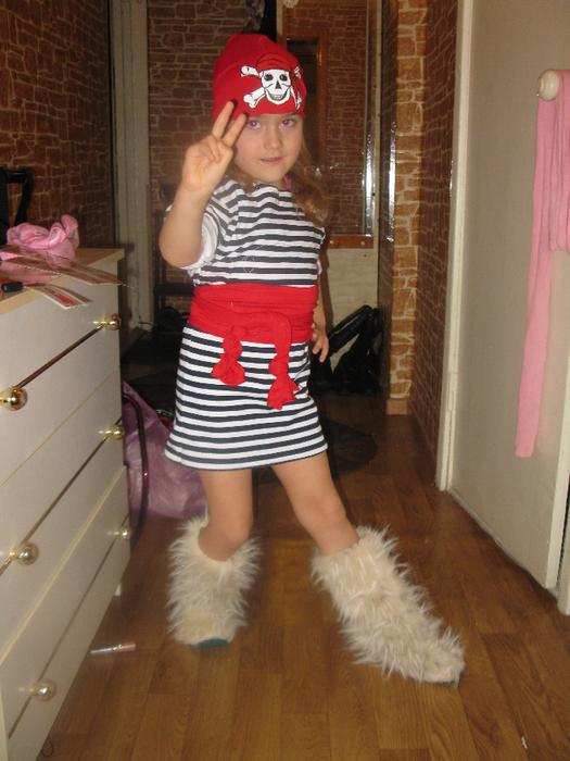 Костюм пирата для девочки из подручных материалов своими руками 62