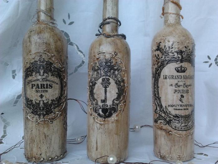 Винтажные винные бутылки (6) (700x525, 255Kb)