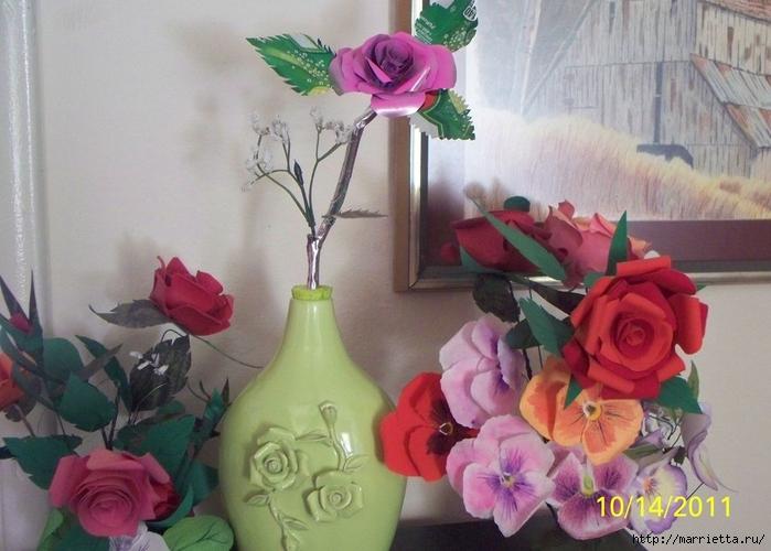 Розы и бабочки из алюминиевых баночек. Мастер-класс (20) (700x500, 244Kb)