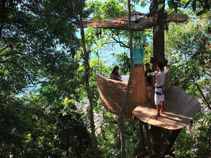 5-Ресторан на дереве. остров Ко Куд в Таиланде (700x525, 398Kb)