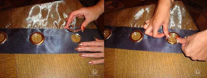 Как самому поставить люверсы на одежду - Jiminy.ru
