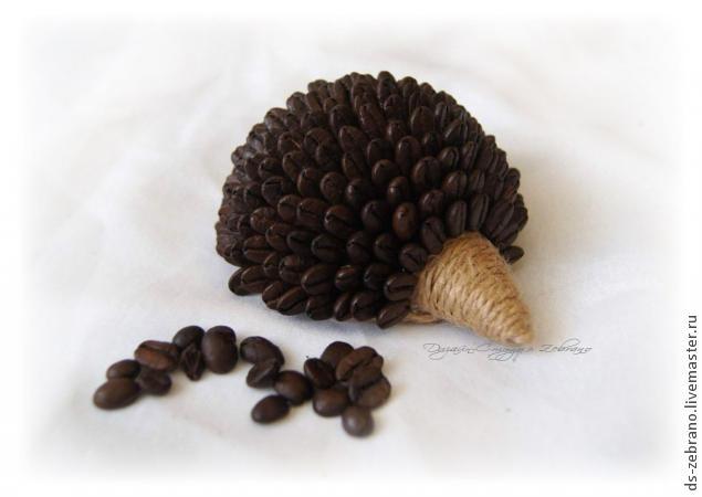 Ароматные ежики из кофейных зерен. Мастер-класс (14) (635x450, 75Kb)