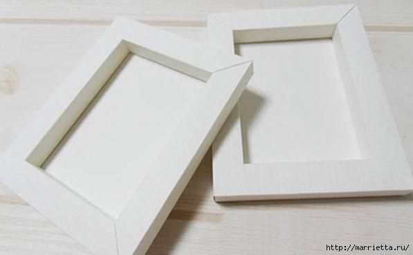 Из картона. Объемная двойная рамка для фото своими руками (8) (597x369, 73Kb)