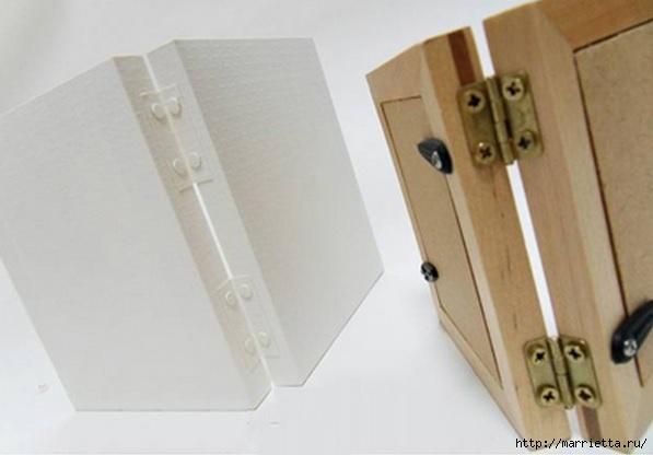 Из картона. Объемная двойная рамка для фото своими руками (11) (597x416, 89Kb)