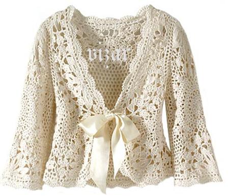 bolero chaqueta crochet con cinta Patron1 (450x386, 279Kb)