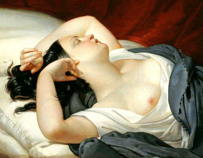Плюшар Евгений Александрович1809-1880.спящая итальянка (700x544, 67Kb)