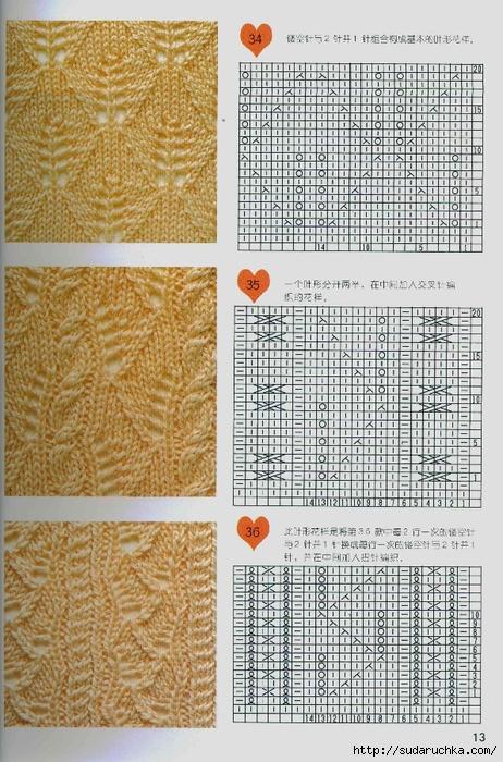 Азиатские узоры по вязанию