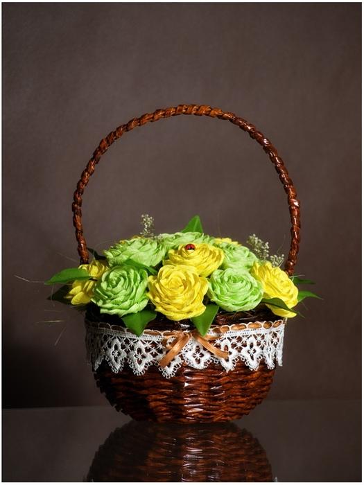 Плетение из газет. Мастер-класс по плетению корзинки для цветов (31) (525x700, 230Kb)