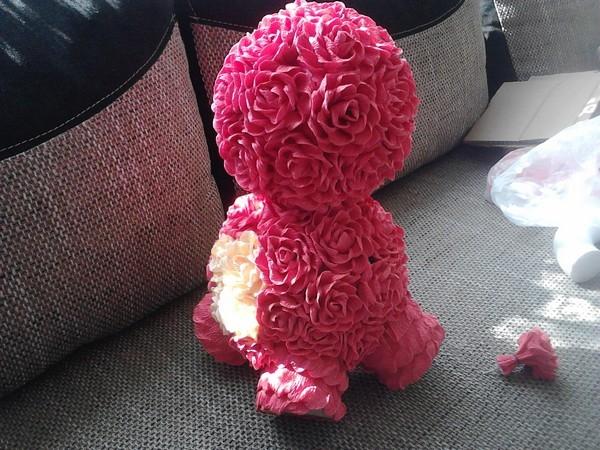 Розовый слон из розочек. Мастер-класс (12) (600x450, 246Kb)
