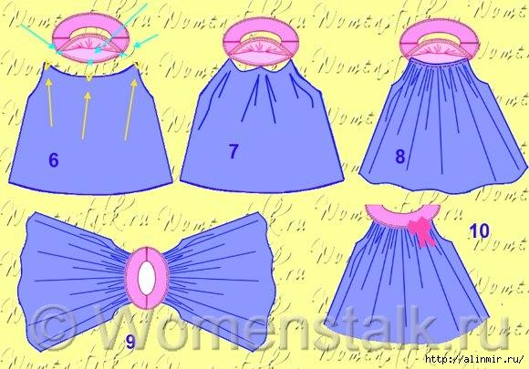 выкройка платья для девочки12 (580x405, 170Kb)