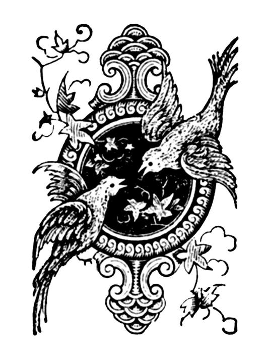 Винтажные изображения для творчества. Орнамент (3) (528x700, 157Kb)