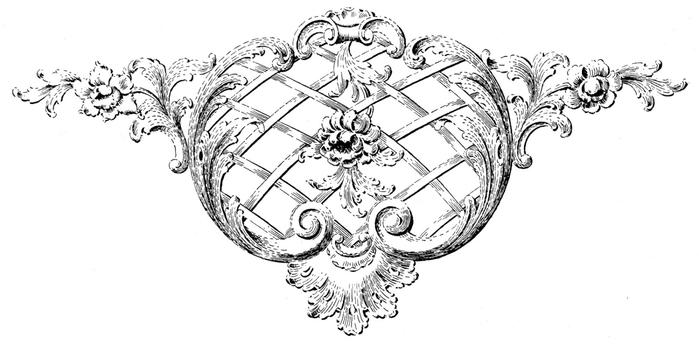 Винтажные изображения для творчества. Орнамент (21) (700x344, 97Kb)