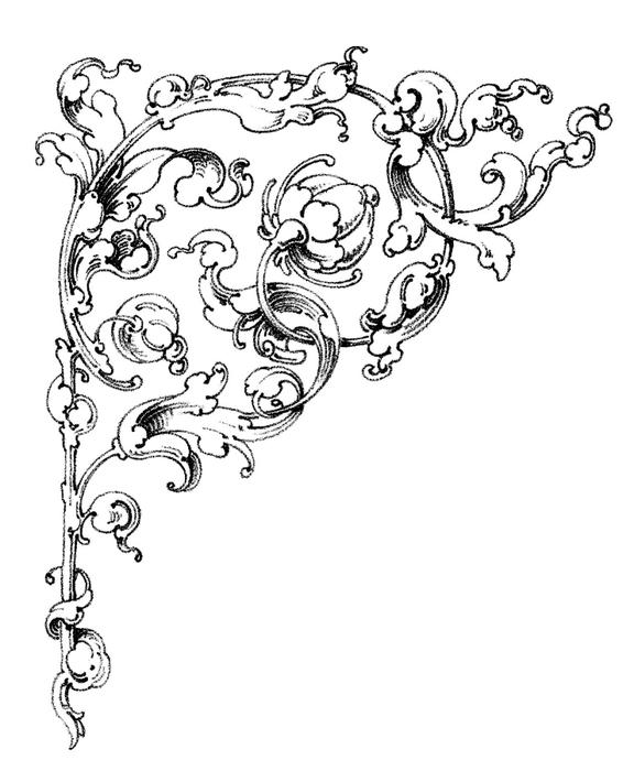 Винтажные изображения для творчества. Орнамент (23) (576x700, 129Kb)