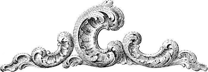 Винтажные изображения для творчества. Орнамент (27) (700x242, 73Kb)
