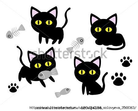 stock-vector-cute-black-cat-cartoon-vector-120424156 (450x362, 65Kb)