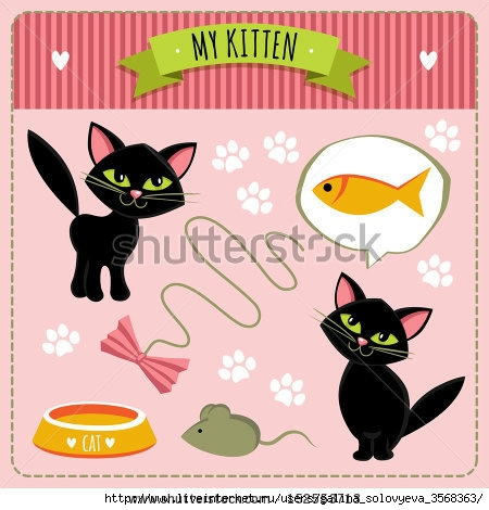 stock-vector-illustration-with-kittens-and-accessories-152553713 (450x470, 119Kb)