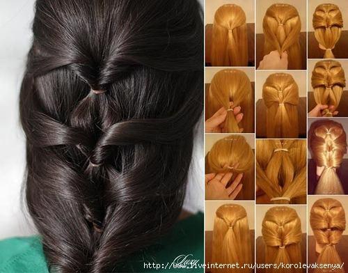 Простые красивые прически для длинных волос своими руками