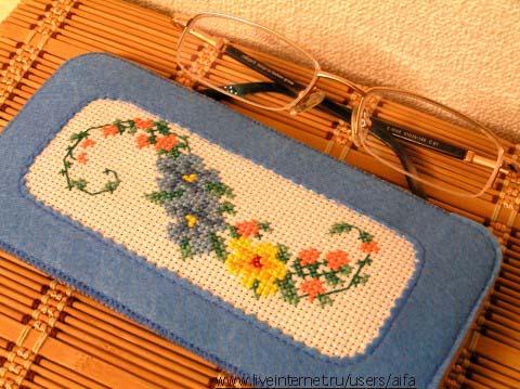 Вышивка крестом схемы очки