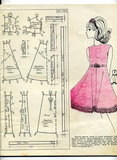 Платье выкройка 60 х