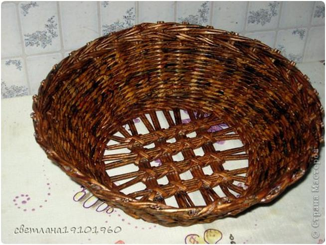 Ажурное плетение для донышка вазочки