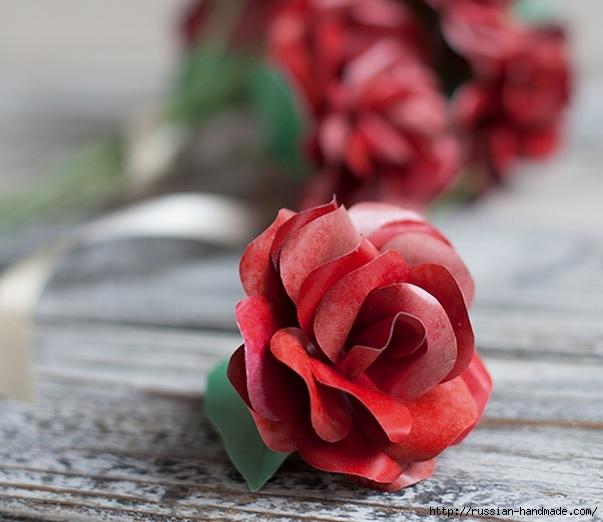 Розы из бумаги ко дню Святого Валентина. Шаблоны для распечатки (2) (603x522, 152Kb)