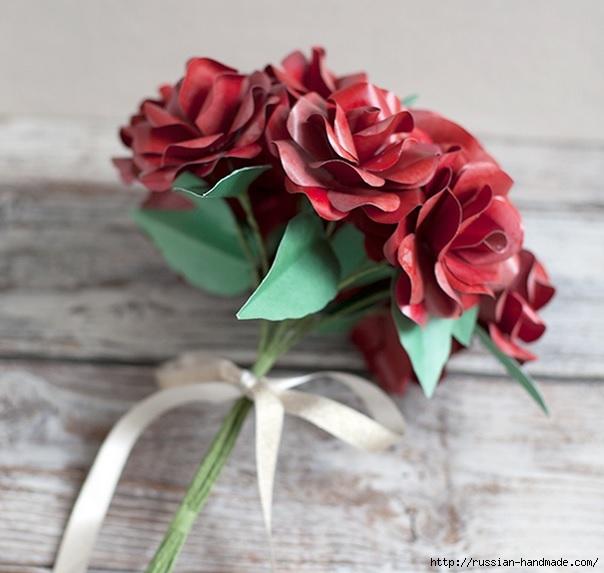 Розы из бумаги ко дню Святого Валентина. Шаблоны для распечатки (3) (604x573, 156Kb)