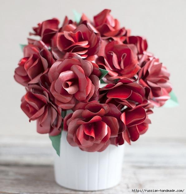 Розы из бумаги ко дню Святого Валентина. Шаблоны для распечатки (4) (597x624, 169Kb)