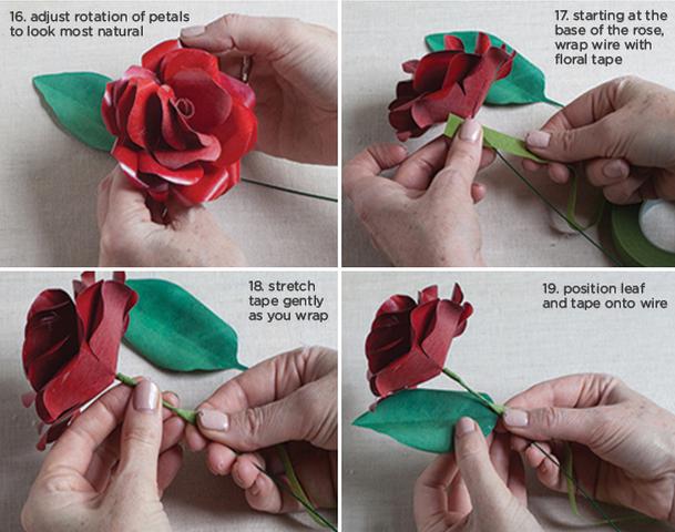 Розы из бумаги ко дню Святого Валентина. Шаблоны для распечатки (5) (609x480, 715Kb)
