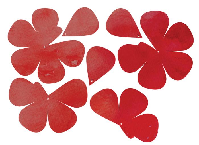 Розы из бумаги ко дню Святого Валентина. Шаблоны для распечатки (9) (700x511, 305Kb)