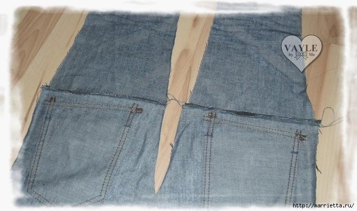 Как сшить жилет из старых джинсов (8) (700x413, 230Kb)