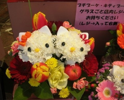 Кошечки из гвоздик. Замечательная идея букета ко Дню Святого Валентина (2) (400x324, 87Kb)
