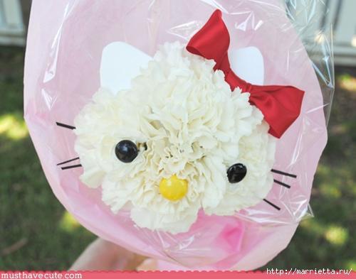 Кошечки из гвоздик. Замечательная идея букета ко Дню Святого Валентина (6) (500x393, 132Kb)