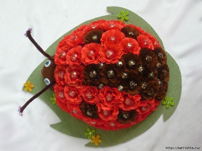 Ramo de caramelo.  Mariquita (4) (699x525, 224Kb)