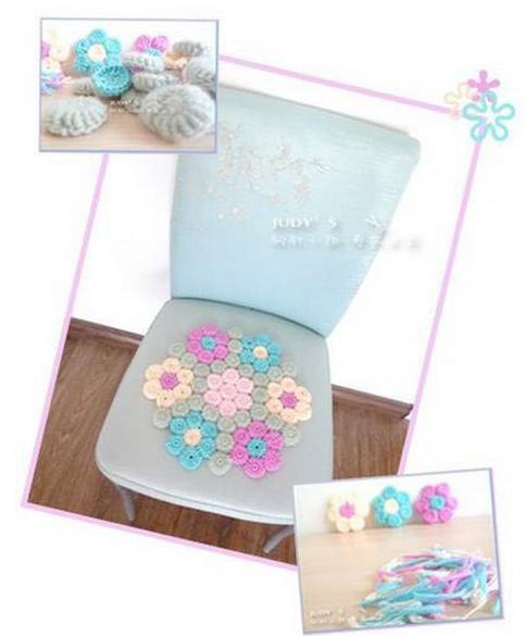 Цветочки крючком для вязания сидушки или коврика (1) (482x585, 388Kb)