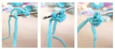 Цветочки крючком для вязания сидушки или коврика (3) (472x204, 191Kb)