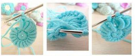 Цветочки крючком для вязания сидушки или коврика (9) (470x197, 211Kb)